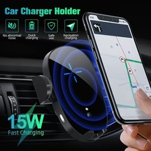 XR 15W Car Qi Wireless Charger for IPhone X 8 11pro Xs Fast Charging for Samsung S10 S9 S8 Note10 8 Air Vent Mount Phone Holders