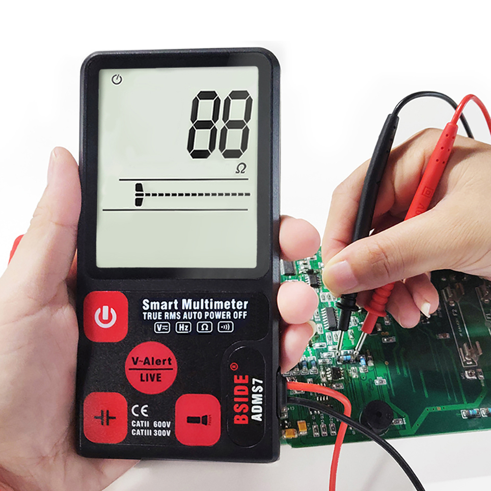 ADMS9CL Professional Automatic Digital Multimeter Tester AC/DC Voltage Resistance Frequency Capacitance Mini Meter