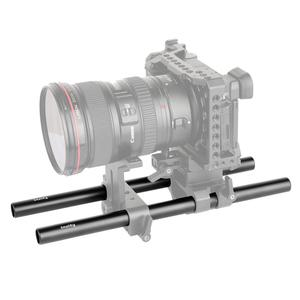 Image 4 - SmallRig 2pcs 15mm שחור אלומיניום סגסוגת מוט (M12 25cm) 10 אינץ מוט 1052
