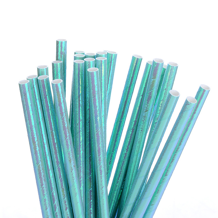Environmentally Friendly Disposable Environmentally Friendly Paper Straws Biodegradable Paper Bronze Solid Color Creative Art De