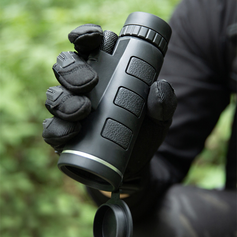 Telescope Monocular 40X60 Zoom Monocular Binoculars Clear Weak Night Vision Pocket Telescope with SmartPhone Holder for Camping