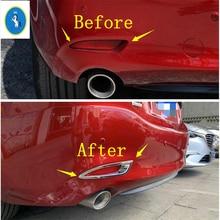 Yimaautotrims Auto Accessory Rear Tail Foglight Fog Lights Lamp Frame Cover Trim Fit For Mazda 6 Sedan 2019 2020 / Chrome Shiny