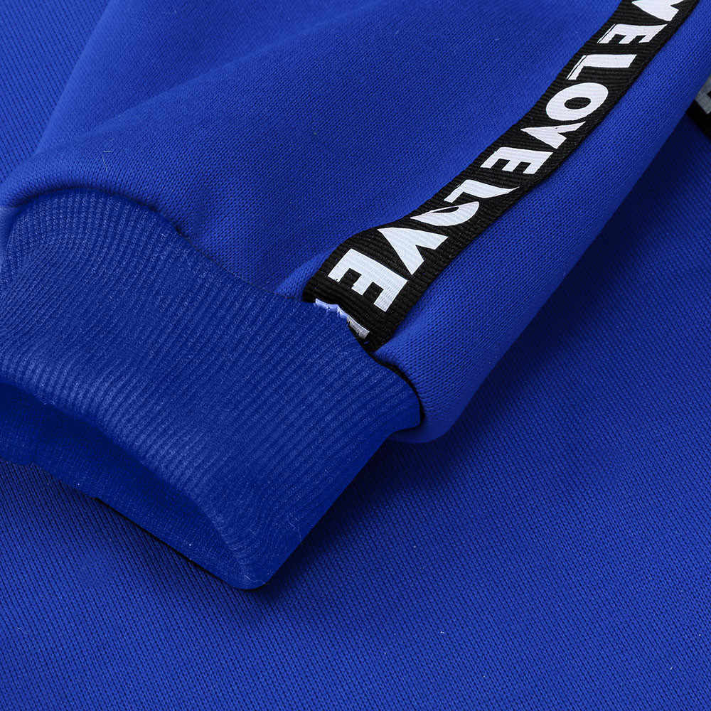 رسالة حزام هوديي المرأة البلوز كم طويل مقنع البلوز القمم فضفاض جيب عادية هوديس سيدة حجم كبير 5XL Bts