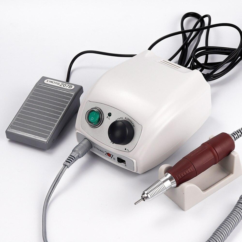 40000RPM güçlü 210 207B mikromotor Handpiece 35K kontrol kutusu elektrikli tırnak matkap lehçe makinesi manikür kiti tırnak sanat ekipmanları