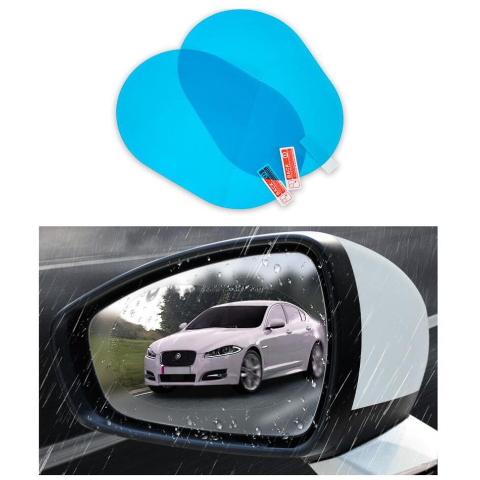 2 Pcs Car Rainproof Film Car Car Rearview Mirror protective Rain proof Anti fog Waterproof Film Membrane Car Sticker Accessories