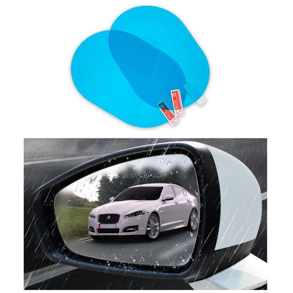 2 adet araba yağmur geçirmez Film araba dikiz aynası koruyucu yağmur geçirmez Anti sis su geçirmez Film membran araba Sticker aksesuarları