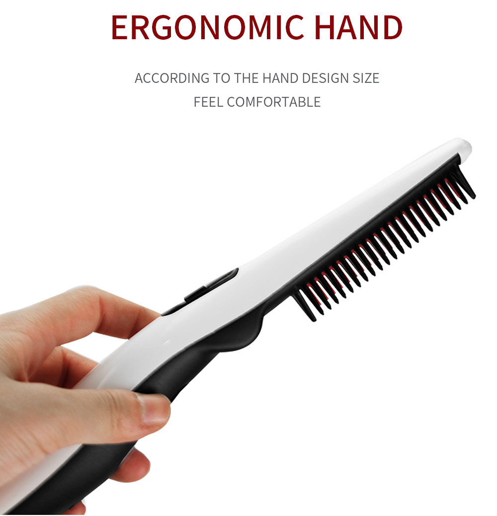 Quick Beard Straightener Hair Comb Multifunctional Hair  For Man Curler Show Cap Tool Electric Heating Hair Brush 12