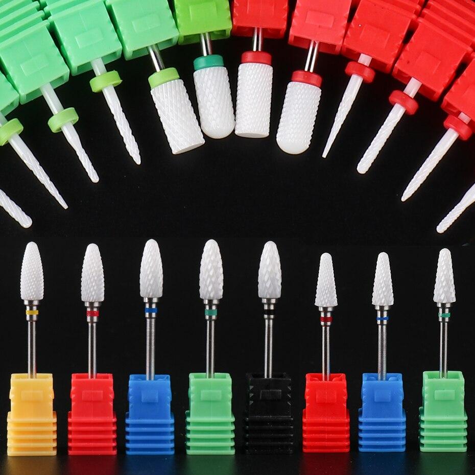 1pcs Nail Drill Bit Ceramic Electric Milling Burr Nail Cutter For Mill Manicure Machine Gel Nail Files Nail Drill Bits TRXTC1-42