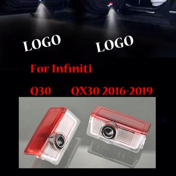 Dla Infiniti Q30 QX30 2016 2017 2018 2019 2 sztuk samochodów drzwiowe światło wejściowe projektor laserowy cień duch lampa tanie i dobre opinie auto bailunte Witamy Światło