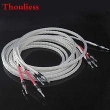 Thouliess пара hifi occ посеребренный 8ag 8n динамик кабель