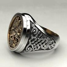 Винтажные кольца с гравировкой в виде рыцаря, панк, хип-хоп, ювелирные аксессуары для пальцев, унисекс, женские и мужские металлические коль...