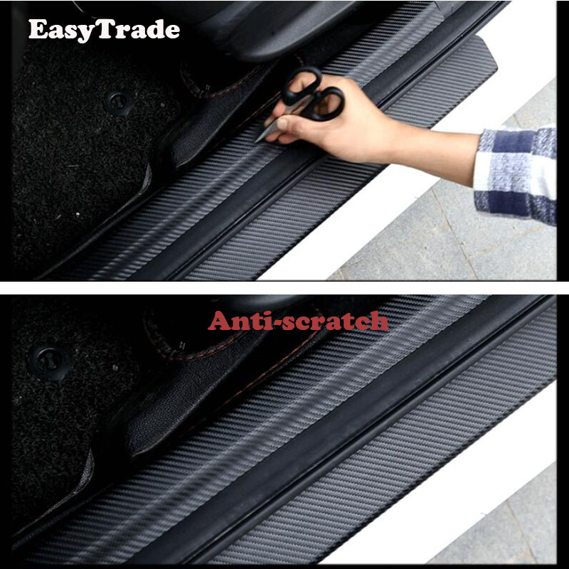 Car Rear Door Sill Plate Protector Scuff Trunk guard plate sticker For Mitsubishi Outlander 2013 2019 Car interior Accessories in Interior Mouldings from Automobiles Motorcycles