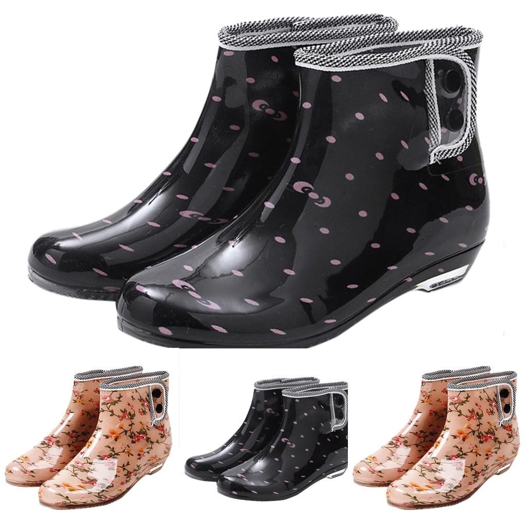 Womens Slip On Rain Boots