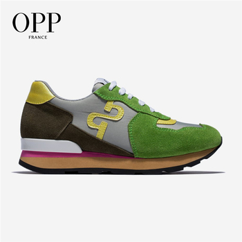 OPP Women's Shoes Wild Sneakers Leather Casual Travel Lace-up Shoes Women's Fashion Non-slip Running Shoes