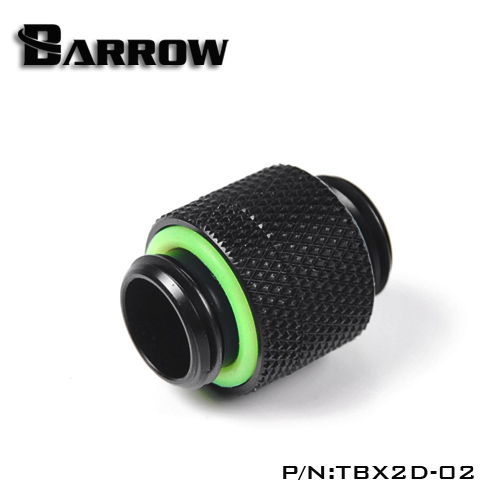 Barrow G1 / 4 '' Rotate Dual External Thread Connection Double Male Adapter Thread Connection For Water Cooling TBX2D-02