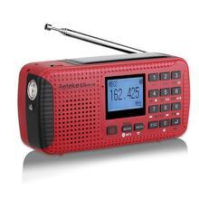 цена на Portable Radio Emergency Crank Solar Receiver FM Radio MW SW With TF Bluetooth MP3 Player Digital Recorder