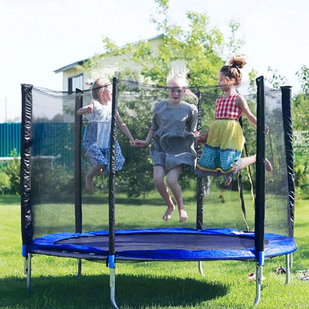 fácil instalação trampolim capa protetor com cinto de montagem resistente