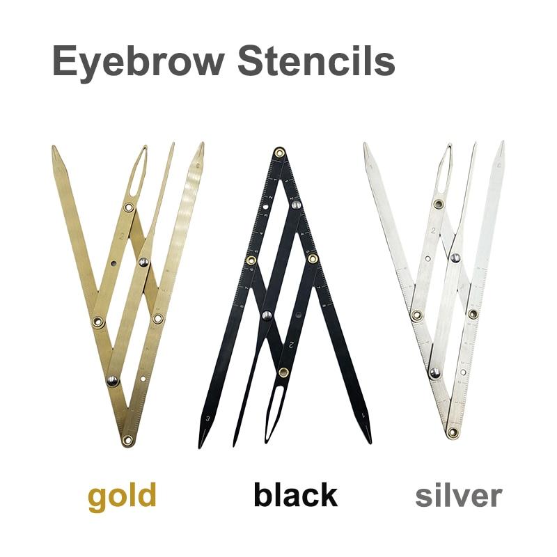 1pc Microblading Supplies Golden Ratio Caliper Eyebrow Ruler Permanent Makeup Accessories Eyebrow Stencil Tattoo Measuring Tools