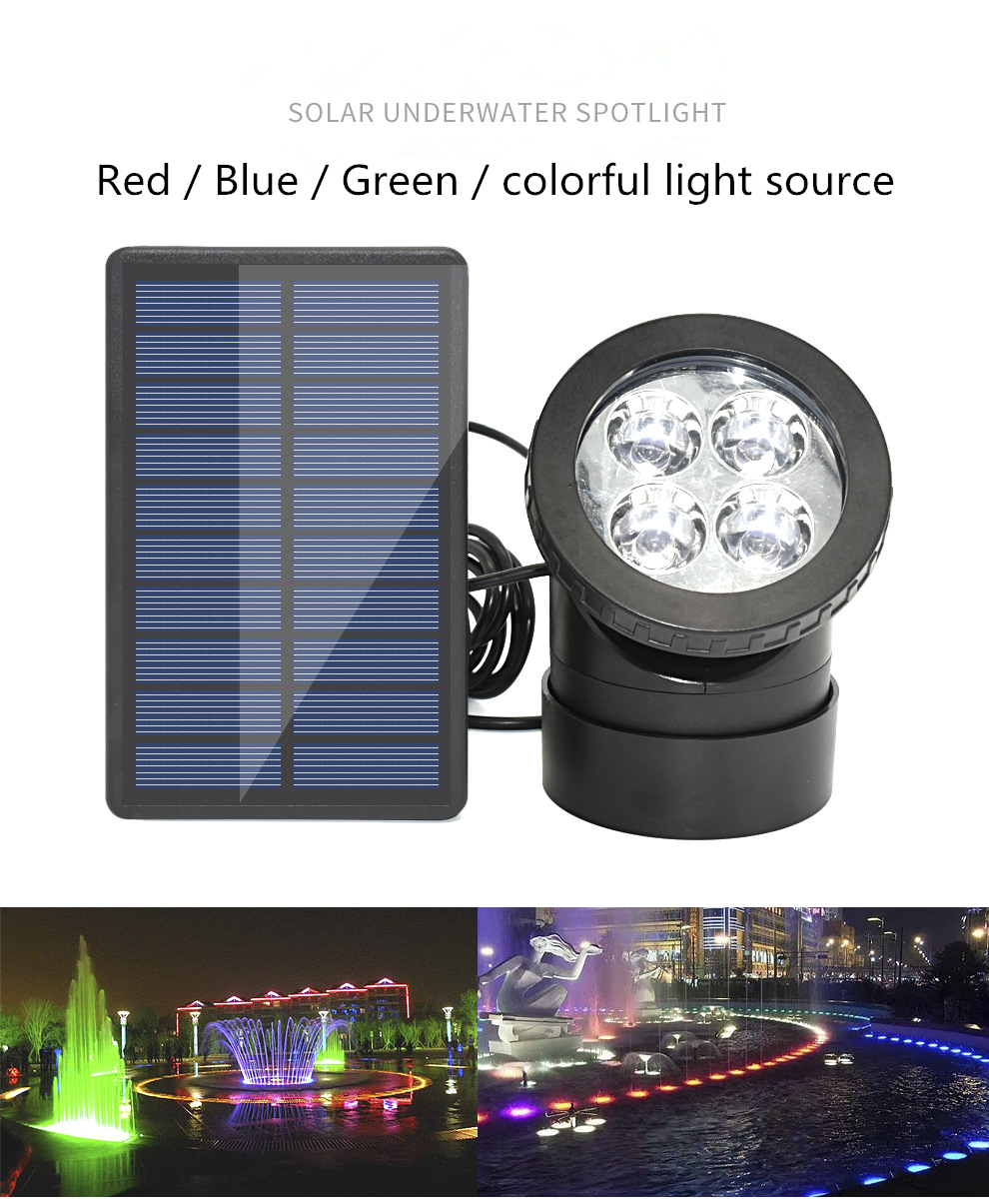 Rgb Solar Led Underwater Lights Pond Light Landscape Spotlight Ip68 Waterproof Submarine Projector Light For Pond Garden Lawn Led Underwater Lights Aliexpress