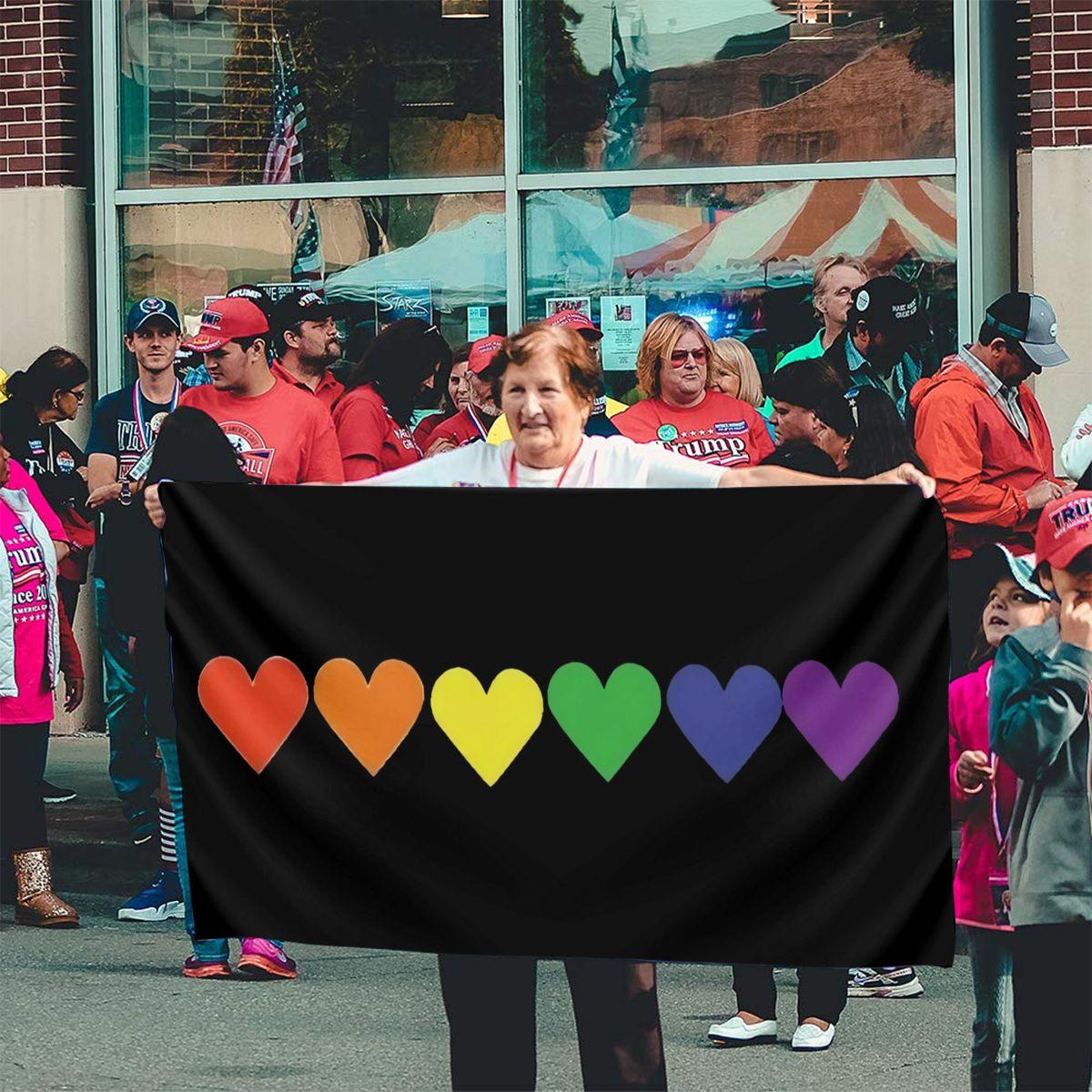 Гордость Радуга Сердце ЛГБТ гордость ЛГБТ Топ для геев взрослые Sm Xxxl распродажа гордости флаг