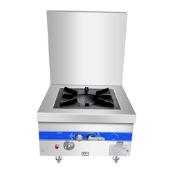 Commercial Gas Stove Single Cooker Stainless Steel Low Soup Furnace Canteen Kitchen Cooker High flame with Fan 120w Gas Stove