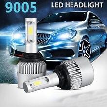 Due pezzi LED H1 H3 H7 H4 H13 H11 9004 880 9007 Auto S2 Auto Lampadine Del Faro 72W 8000LM 6500K per 9V a 36V 200M gamma di illuminazione