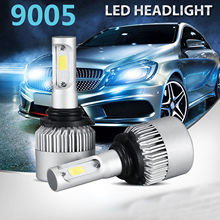 Лампы светодиодные автомобильные, H1, H3, H7, H4, H13, H11, 9004, 880, 9007, лампы головного света S2, 72 ВТ, 8000 лм, 6500K на 9 36 В, дальность освещения 200 м, две штуки