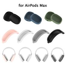 용 에어팟 Max 케이스 소프트 실리콘 헤드폰 쿠션 보호 커버 Muffs 소매 애플 에어팟 Max 머리띠 스킨