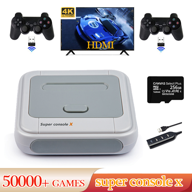 Video-Game Consoles 50000 N64 Output X-Wifi AV/HDMI Support PS1 MD PSP Built-In 4K