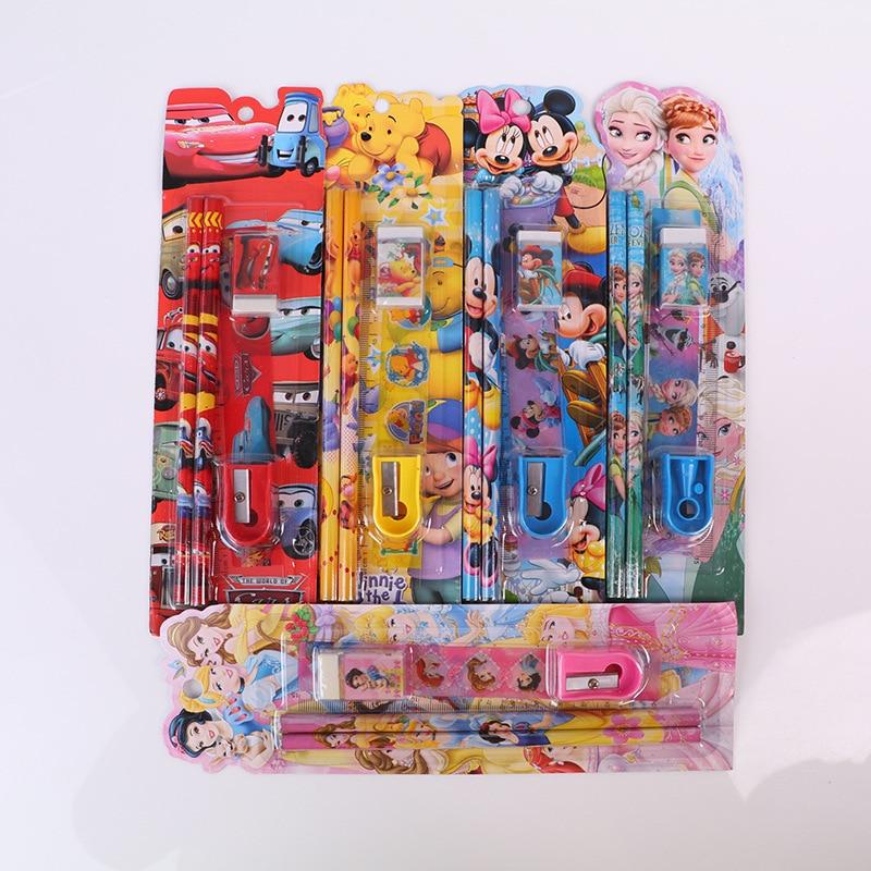 Creative Stationery Five-piece Children's Stationery Set Kindergarten Birthday Gift Student Promotional Gift Wholesale Pen Ruler