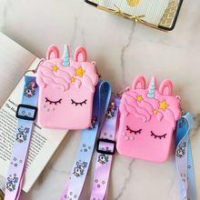New Unicorn Soft Silicone Shoulder Bags Cute Cartoon Women M