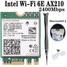 3000mbps sem fio banda dupla wifi 6 para intel ax210 ax200 ngff m.2 bluetooth 5.1 adaptador de rede de cartão wi-fi 2.4g/5ghz 802.11ac/ax