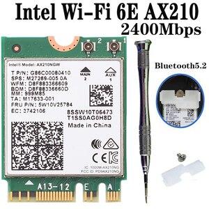 3000 Мбит/с Беспроводной двухдиапазонный Wi-Fi 6 для Intel AX210 AX200 NGFF M.2 Bluetooth 5,1 Wi-Fi карта сетевой адаптер 2,4G/5 ГГц 802.11ac/ax