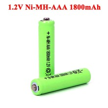 4pcs 1.2v NI-Mh AAA Rechargeable Batteries 1800mAh ni mh Battery 1.2V aaa For Electric remote Control car Toy RC ues