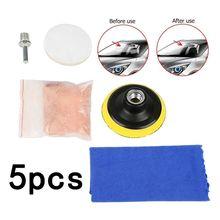 Kit de polissage pour pare brise de voiture, 5 pièces, pour enlever les rayures, outil de réparation, oxyde de cérium