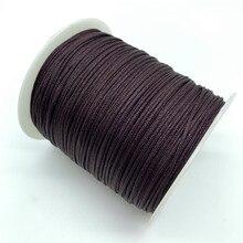 0.5mm 0.8mm 1.0mm 1.5mm marrom corda de cabo de náilon nó chinês cabo de macrame corda para fazer jóias para shamballa pulseira