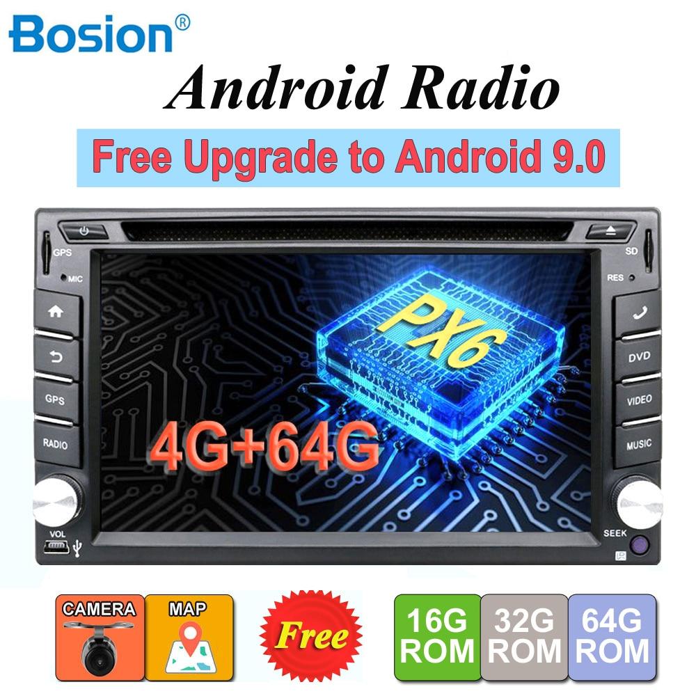 2 din android 9.0 autoradio magnétophone stéréo pour universel 2din autoradio voiture dvd GPS Navigation volant Wifi carte
