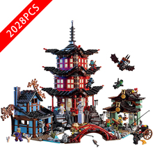 New Ninjaing Series Toys Temple of Airjitzu Compatible lepinngly Ninjaing 707516 Building Blocks Toys for Children Birthday Gift compatible with lego ninja 70751 2150 pcs 06022 blocks ninja figure temple of airjitzu toys for children building blocks 70603