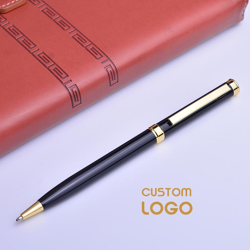 Personalized Gift Pen Engraved Ballpoint Pens Custom Logo Name Metal Pen For Souvenirs Company Bussiness Wedding Gift 1.0mm