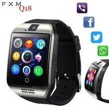 FXM Bluetooth Smart Clock Man Mit Kamera Facebook Whatsapp Twitter Sync SMS Mens' Watches