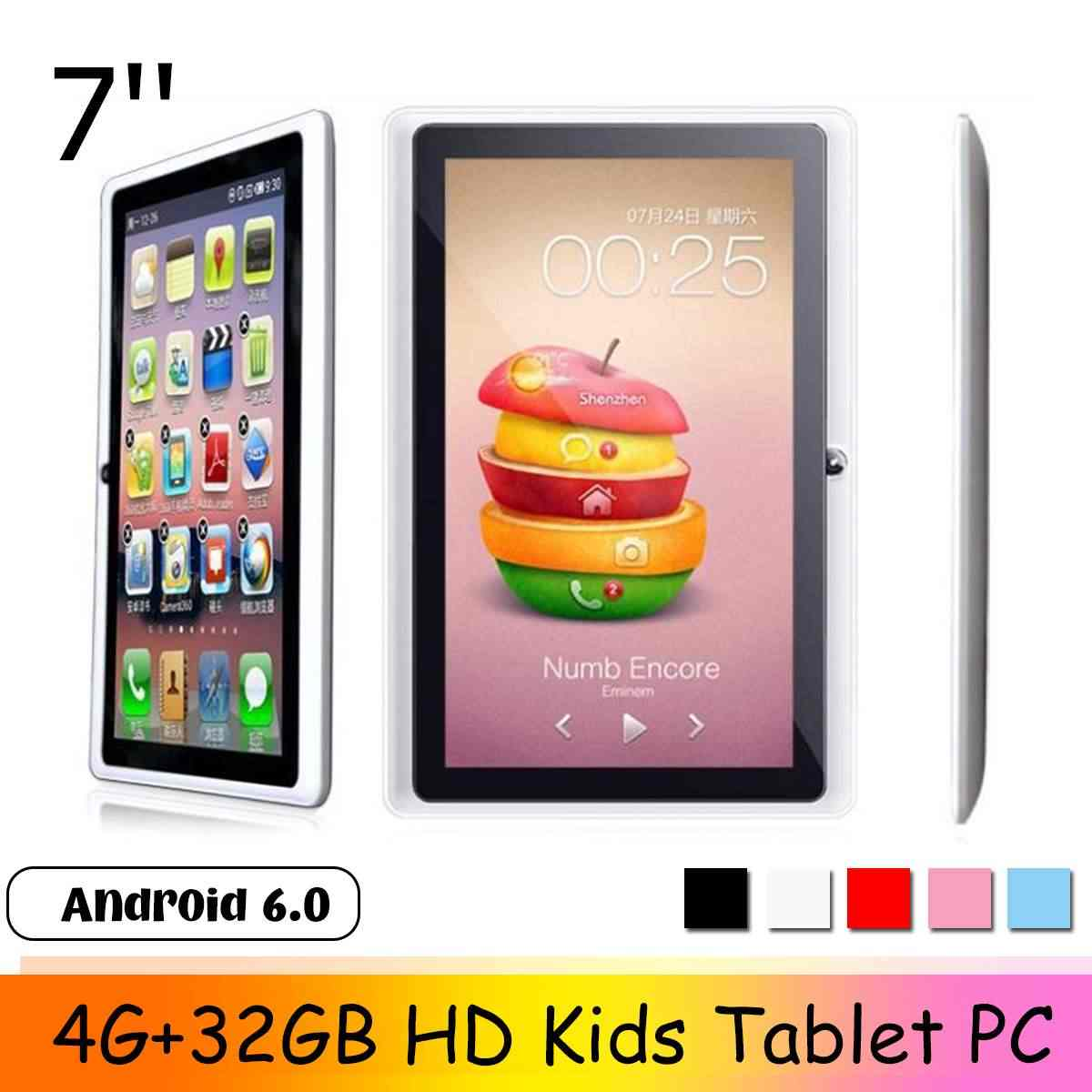 LEORY 2019 nuevo 7 pulgadas HD Tablet PC 4G + 32GB Android 6,0 Quad Core 4000mAh tableta de navegación bluetooth WIFI para niños