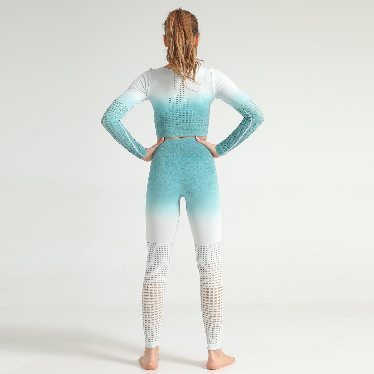 oco para fora fitness sportwear terno conjunto treino