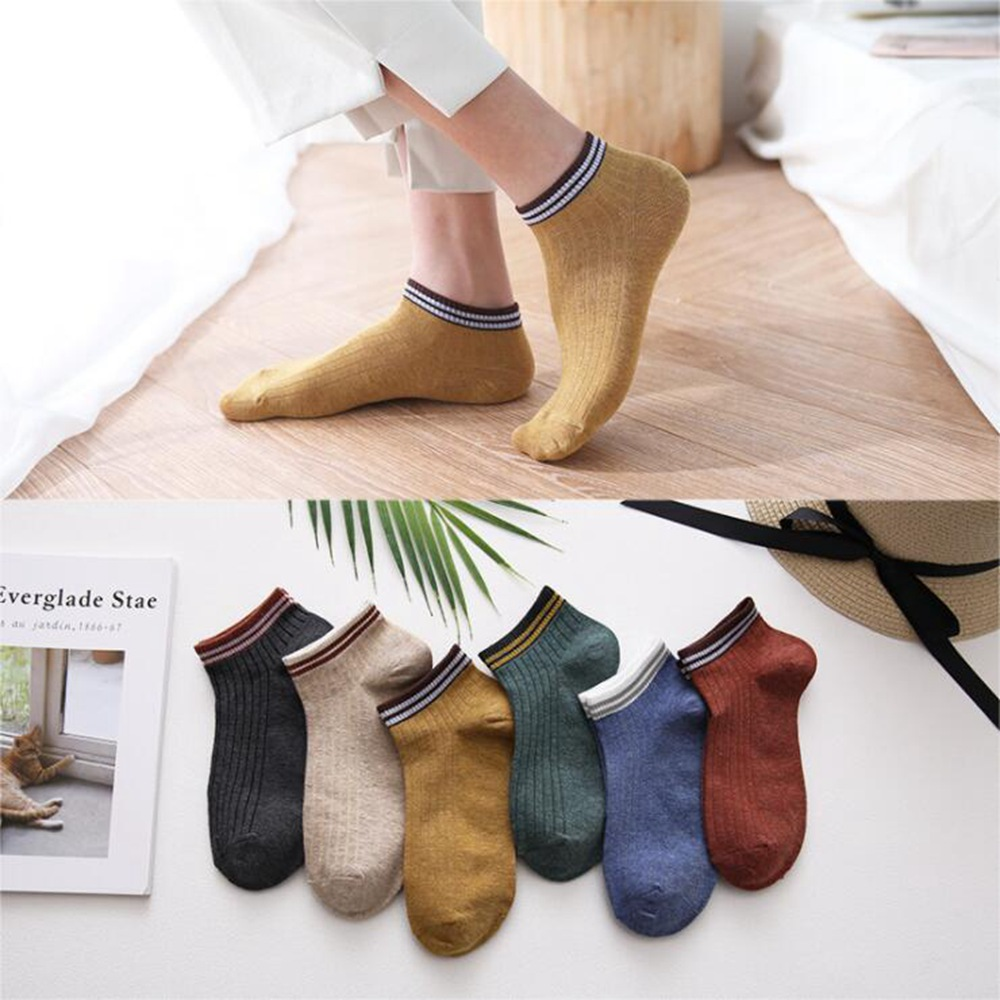 1 Pairs Spring Summer Ms Cotton Ankle Socks For Mens Business Casual Solid Color Short Socks Ms Sock Slippers Lnvisible Socks