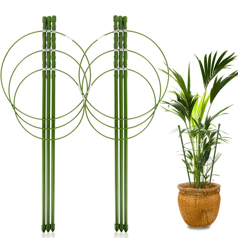 2 Pack Plant Support Cage Metal Rust Resistant Garden Plant Support Ring Plant Stake Plant Support|Plant Cages & Supports| |  - title=