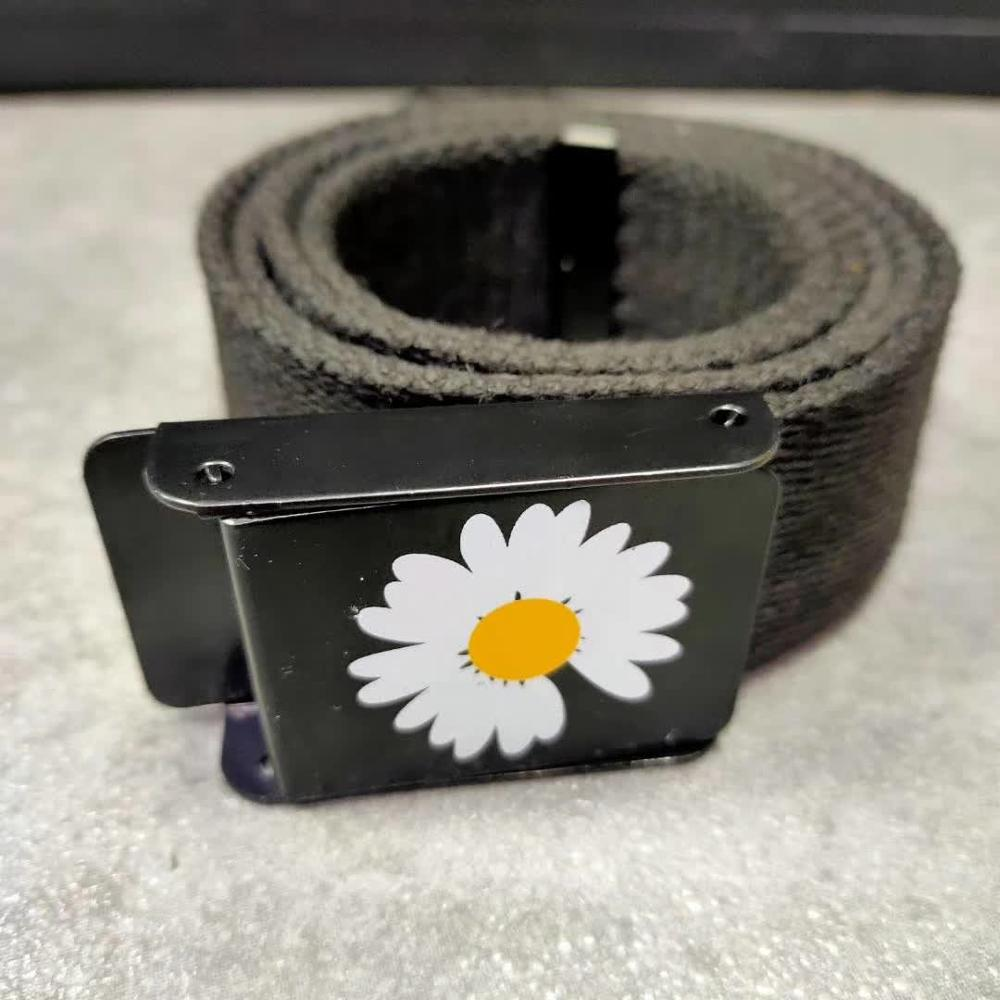 2020 Daisy Belts Men Women Hip Hop Daisy Flower Logo Belt Korean Fashion G-DRAGON Waistband PEACEMINUSONE FRAGMENT