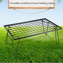 Outdoor picnic table multifunctional camping barbecue grill portable table multi-purpose folding table