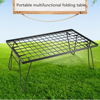 Outdoor picnic table multifunctional camping barbecue grill portable table multi-purpose folding table ofm kmt42sq chy square multi purpose table metal mesh base 42 cherry