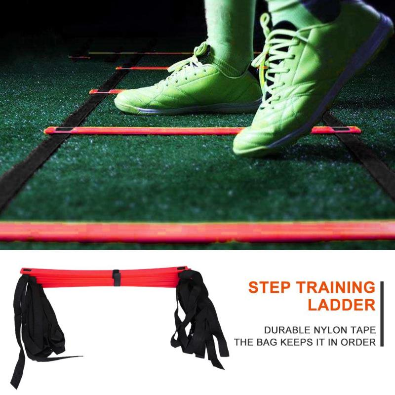 6/7/8/9/12/14 Rung Nylon Straps Training Stairs Agility Ladders Soccer Football Tab Speed Ladder Sports Fitness Equipment Hot