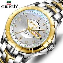 SWISH Gold Quartz Wristwatches 2020 Top Brand Watch