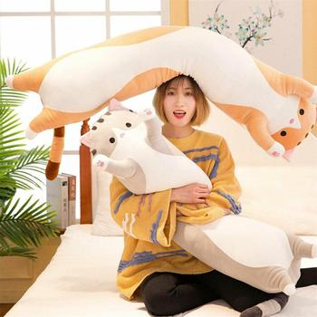 Cute Plush Stuffed TOY Long Cotton Cute Cat Doll Plush Toy Soft Stuffed Sleeping Pillow 70CM Comfort Kids Doll for Children Gift 70cm 50cm 30cm cute rabbit plush toys bunny stuffed plush toy cute pillow for baby sleeping gift